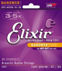 Elixir 11077 NANOWEB Light/Medium