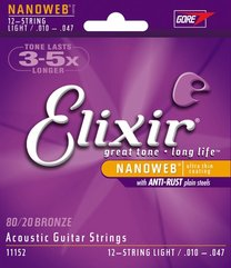 Elixir 11152 NANOWEB 12-String Light