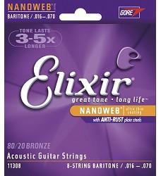 Elixir 11308 NANOWEB 8-String baritone