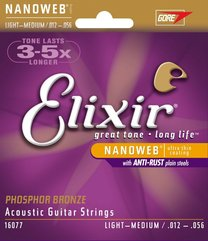 Elixir 16077 NANOWEB Light/Medium